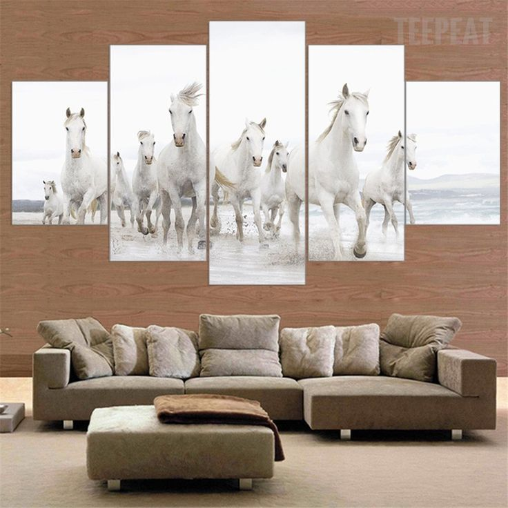 living room art prints%0A White Horses At The White Beach  prints  prntable  painting  canvas   empireprints