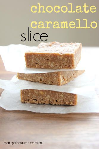 If you have a Cadbury Caramello chocolate block that you just don't know what to do with (no likely, we know), then try this CHOCOLATE CARAMELLO SLICE, it makes the perfect dessert to share http://bargainmums.com.au/chocolate-caramello-slice