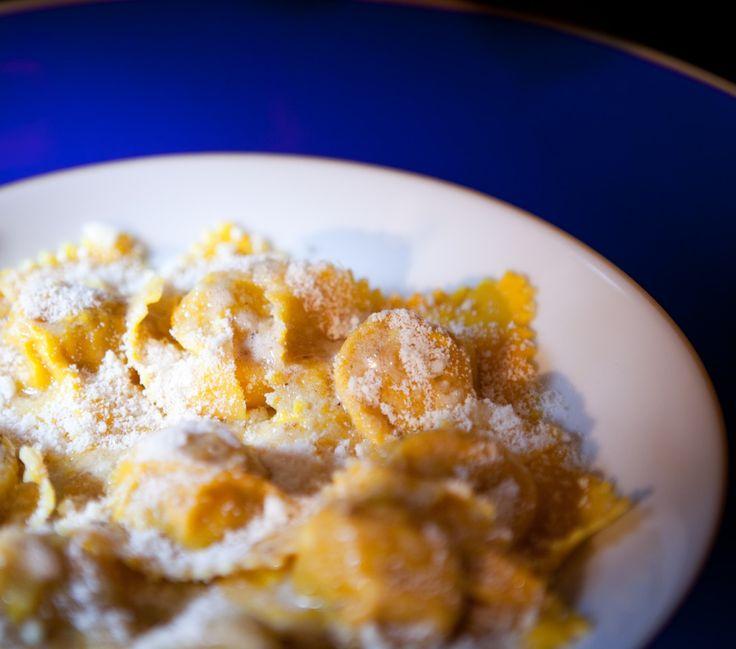 Tortelli di zucca con Parmigiano delle Vacche Rosse