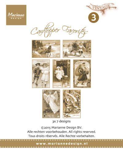 Ct1503 Favorites - Vintage - Card Toppers - Knipvellen - Hobbynu.nl
