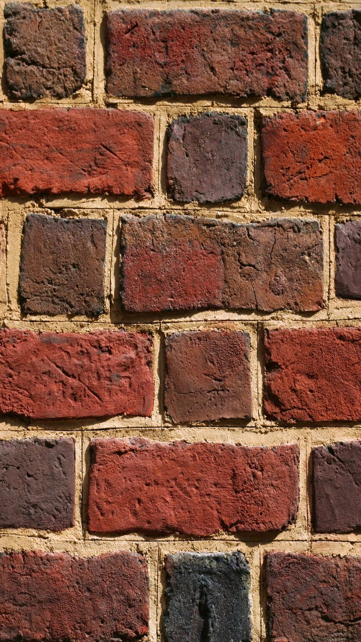 ↑↑TAP AND GET THE FREE APP! Minimalistic Brick Wall Red Brutal Texture HD iPhone 6 plus Wallpaper