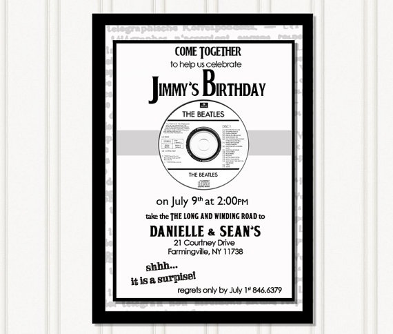 Beatles Party Invitation