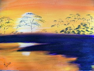 A Pretty Talent Blog: Mix An Alternative Black To Paint A Sunset In Oils
