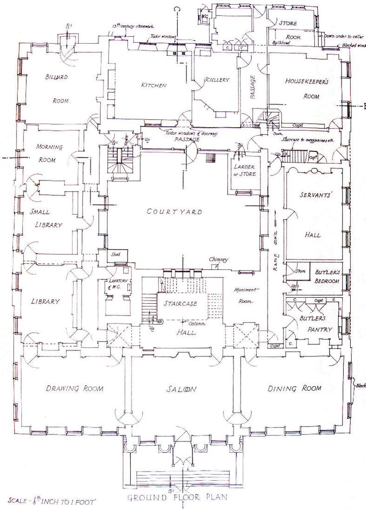 PLANS FOR REDGRAVE HALL we have the upper floor elsewhere
