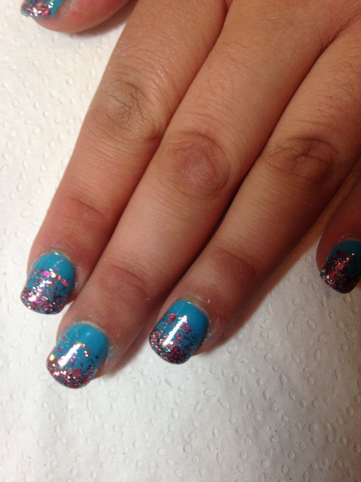Blue with a sparkle fade