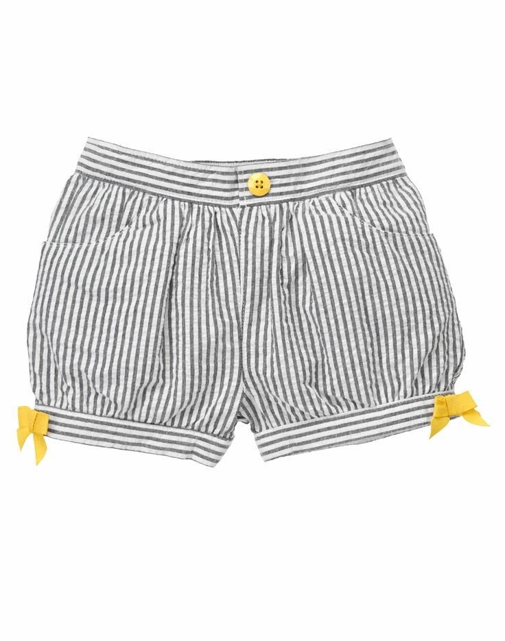 Striped Seersucker Bow Shorts at Gymboree Collection Name: Yellow and Black (2014) 2T
