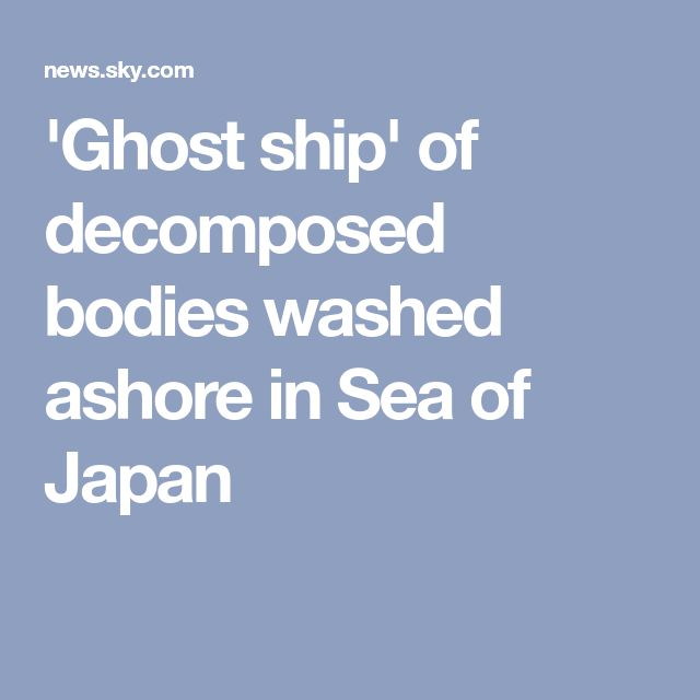 'Ghost ship' of decomposed bodies washed ashore in Sea of Japan