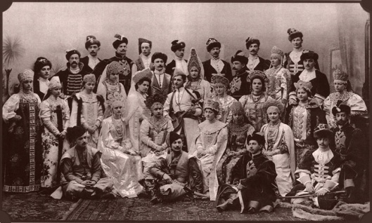 The last Romanov family picture at the 1903 ball before the Revolution.