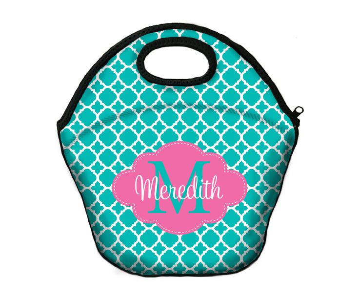 Insulated Lunch Bag Monogrammed Lunch Box Lunch Tote For Girls Personalized Lunchbox For Women Custom Monogram Lunch Bag Monogrammed Gifts by ChicMonogram on Etsy