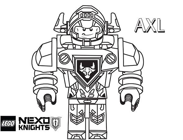 Axl LEGO Nexo Knights Coloring Page