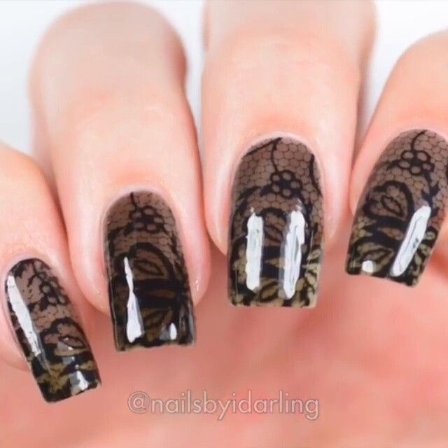 42 best Nail Art: Lace nails images on Pinterest | Lace nails, Nail ...