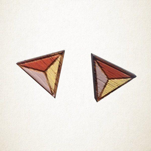 Geometric Stud Earrings   Krinkle