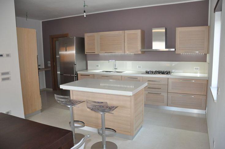 Cocina moderna blanca con isla amueblar un piso moderno for Cucine classiche con isola