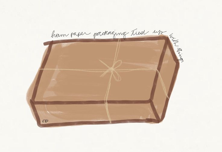 Brown paper packaging tied up with strings. The Sound of Music illustration