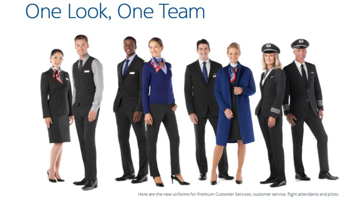 Here are the new American Airlines employee uniforms. — Brian Sumers