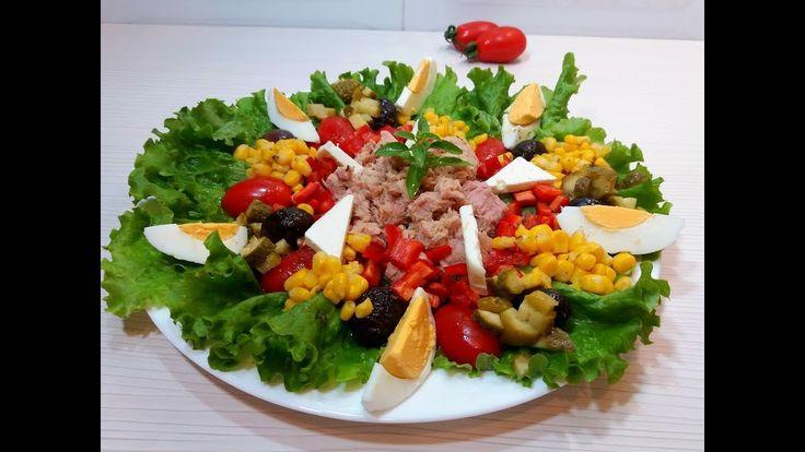 ВКУСНЫЙ САЛАТ  НА ПРАЗДНИЧНЫЙ СТОЛ Невероятно #вкусный  и простой в приготовлении #салат  украсит ваш #праздничный_стол. #Рецепт очень легкий и быстрый.
