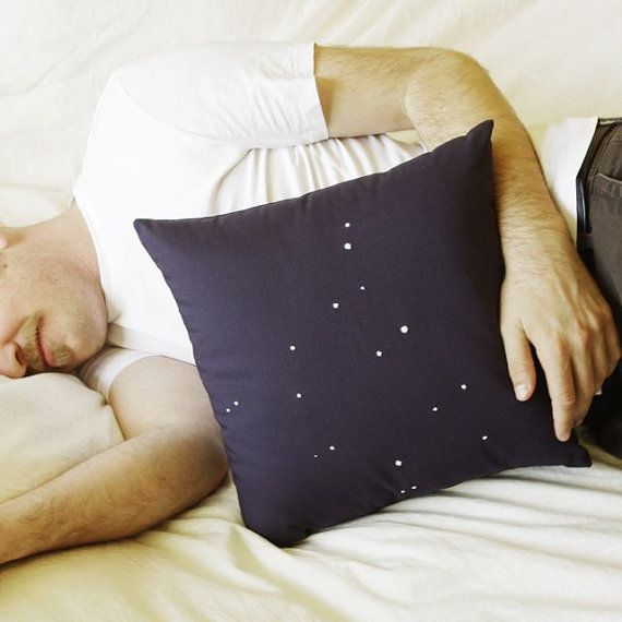 Items similar to SALE - Normally 60 USD - Navy Ursa Major Constellation Pillow on Etsy, a global handmade and vintage marketplace.