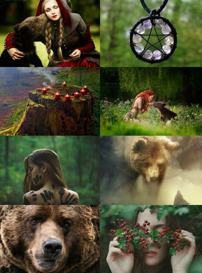 """Animal Witch Aesthetics // Bear Witch """"Requested """" Owl Witch 