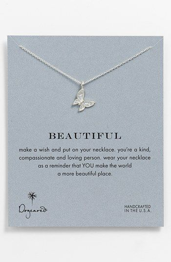 Dogeared 'Reminder - Beautiful' Boxed Pendant Necklace available at #Nordstrom - 14KCA