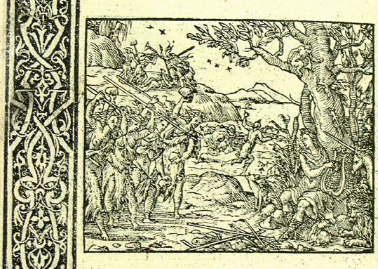 Orphée mis en pièces (Métamorphose Lyon 1557) - Bernard Salomon