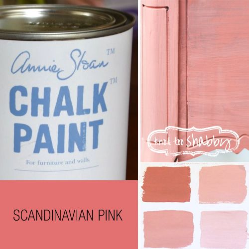 Scandinavian Pink Chalk Paint®   One of the traditional colours found in much Swedish furniture we use it underneath and as a colour for interiors of cupboards and drawers.  ADD OLD WHITE – to make 'Hydrangea' Add 2 parts of Old White to 1 part of Scandinavian Pink for the beautiful colour of dried HYDRANGEA, a dusky chalky faded colour.