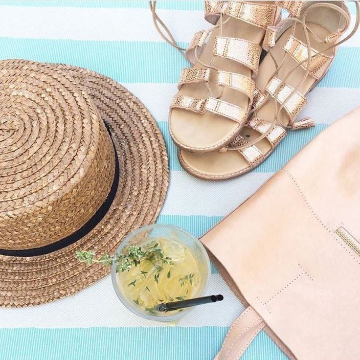 Warm weather essentials Ft. Our rose gold 'Toucan' sandals Image via @partywithlenzo  #baredfootwear #liveeverystep