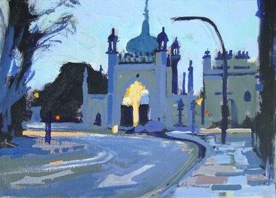 Brighton Pavilion North Gate at Dawn
