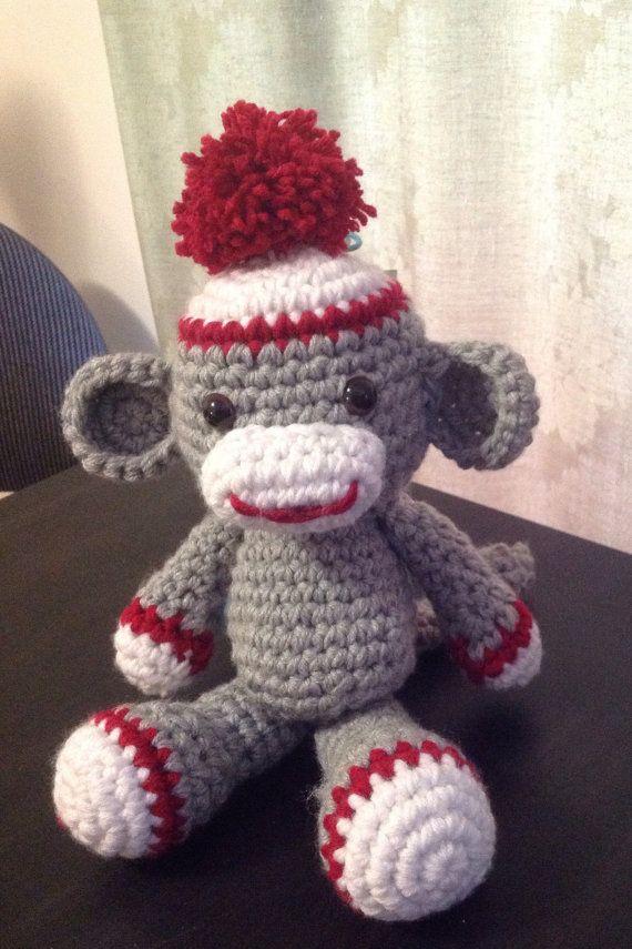 Sock Monkey-Stuffed Monkey-Stuffed Animal Monkey-Stuffed Sock