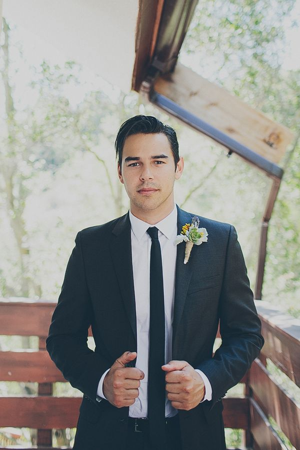 black and white groom looks http://www.weddingchicks.com/2013/09/24/natural-chic-wedding/