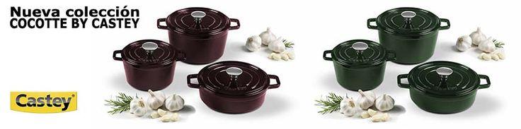 Nuevas cocottes de hierro fundido de Castey. Cocina sana. Para presentaciones, pequeñas tapas, guisados, rustidos, etc.