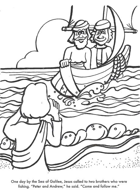 jesus disciples coloring pages - photo#35