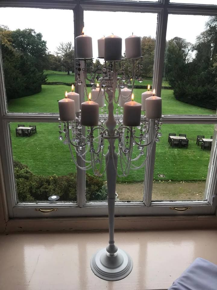 Beautiful 1mt ornate candelabra for hire from Make It Special Events.