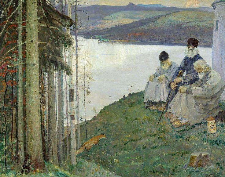 Михаил Васильевич Нестеров » Картины, живопись » Лисичка, 1914