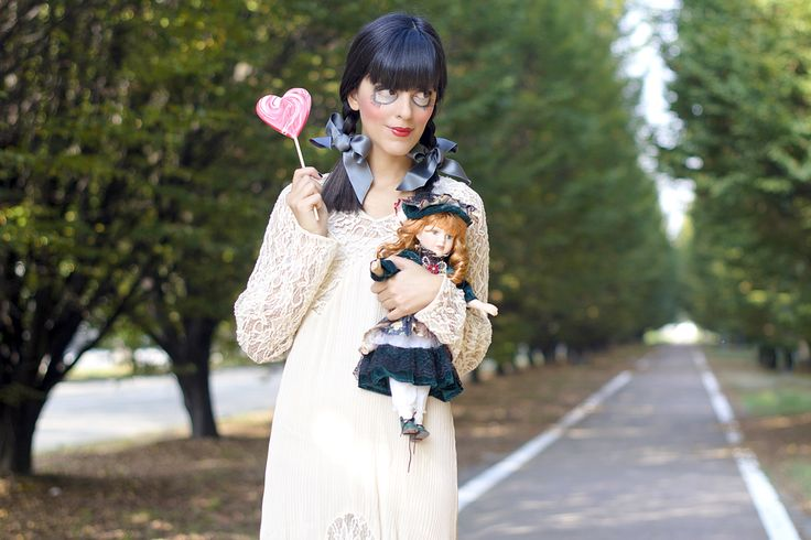 Costume and makeup ideas for #Halloween - The murder doll! || Idee costume e trucco #Halloween2014 - Bambola assassina! #pursesandi #lauracomolli