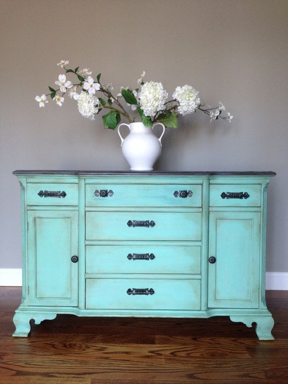1000 Ideas About Distressed Turquoise Furniture On
