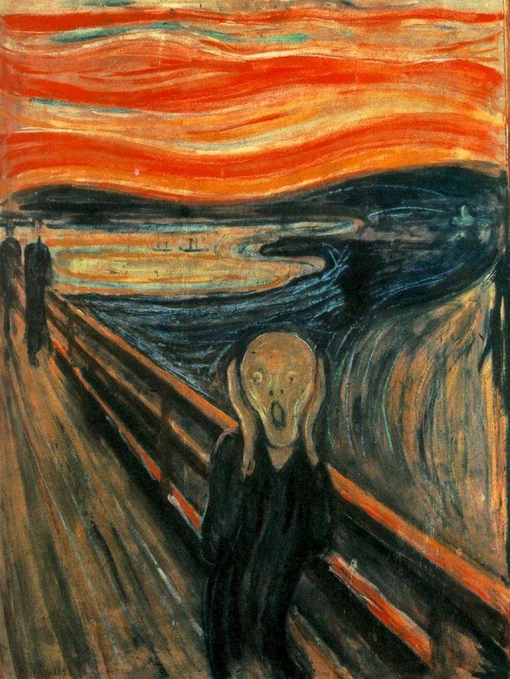 Edvard Munch - Skrik (Le Cri), 1893. Représentation de l'explosion du Krakatoa (Indonésie), survenu 10 ans plus tôt?