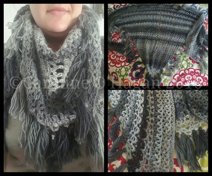 Merino Wool Scarf/Shawl hand crocheted by me :)