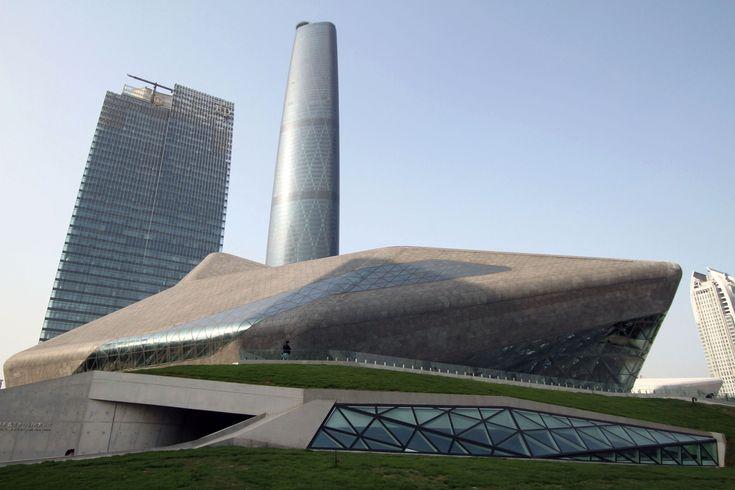 The Guangzhou Opera House, Guangzhou, China, 2010. Architect: Zaha Hadid.
