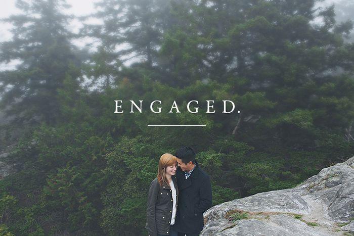 super cute engagement announcement