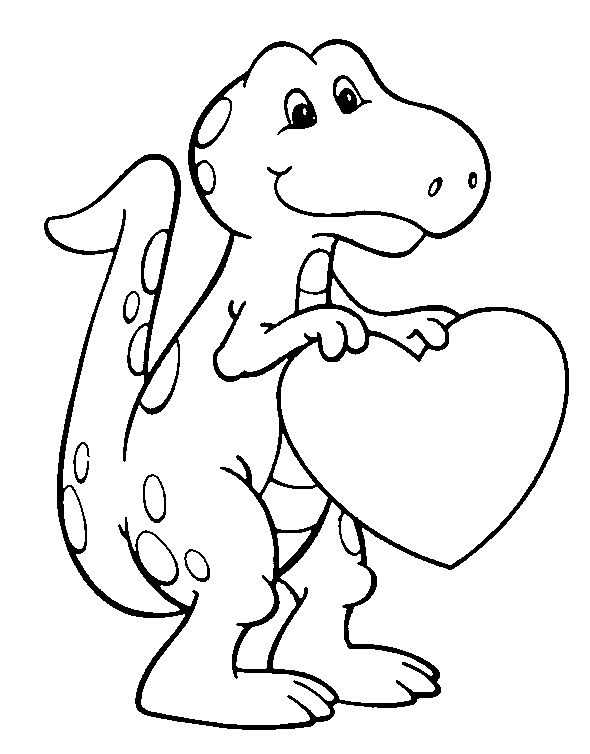 Free Printable Dinosaur Crafts | Free Printable Valentines Day Coloring  Pages