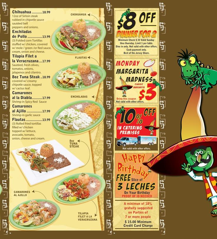 Menu the best mexican restaurant highlands nj for X cuisine miri menu