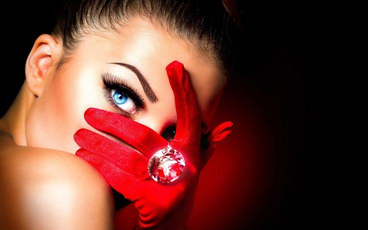 Girl  Red Wallpaper