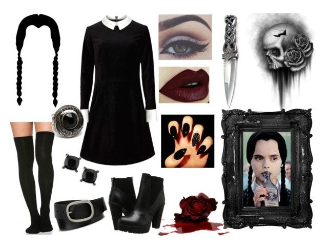 Wednesday Addams Style | Addams Family by alex-aki on Polyvore