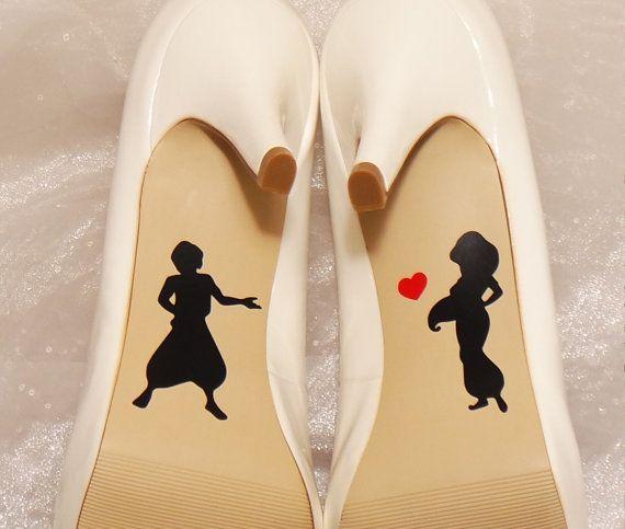 Aladdin und Jasmin Hochzeit Schuh Abziehbilder, High-Heel-Abziehbilder, Schuh-Decals für Hochzeit, Hochzeit Schuh Abziehbilder, Disney Schuh Abziehbilder von CraftyWitchesDecor