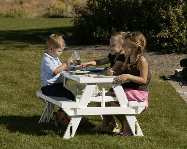 The Kidnic Kids Rectangular Picnic Table is a great choice for your backyard. This rectangle-shaped picnic table makes for a great spot for your kids to work on craft projects or spend time in the evening with some snacks. It is specially designed for outdoor use and has excellent fade-resistant properties. It is burnished with a white finish and features sturdy plastic construction that ensures years of utility. This table is suitable for kids in the age group of two to eight years. The…