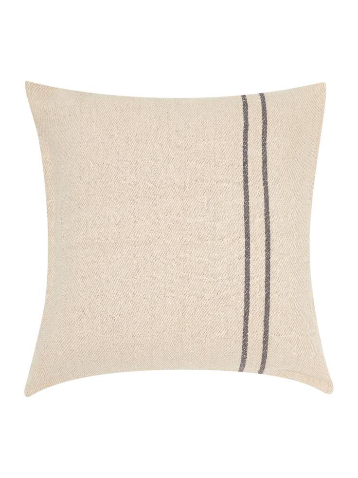 Gray & Willow Troso Woven Stripe Cushion - House of Fraser