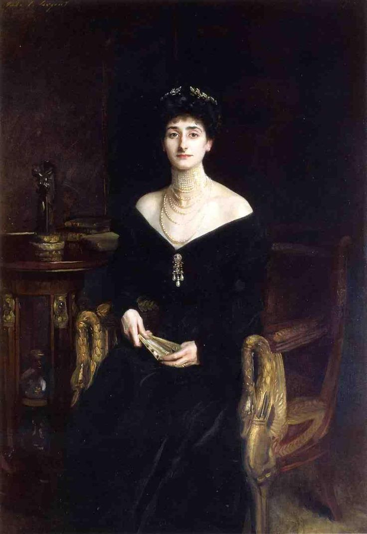 John Singer Sargent - portrait of Mrs Ernest G. Raphael - nee Florence Cecilia Sassoon -1905