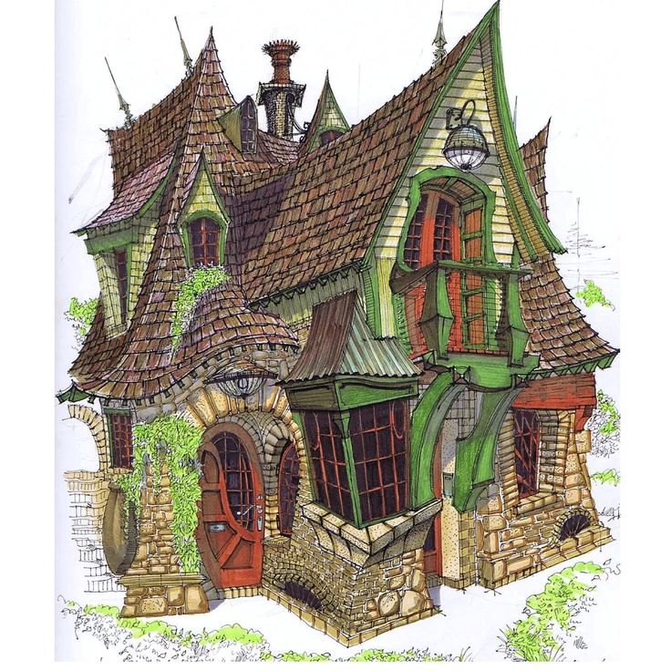 19 best images about zanadu on pinterest bottle home for Witches cottage house plans