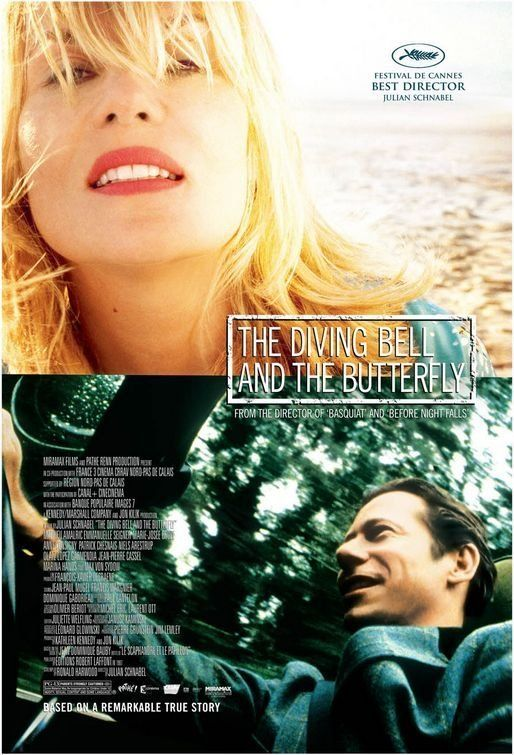 The Diving Bell and the Butterfly (2007) Rated PG-13 8.1 The true story of Elle editor Jean-Dominique Bauby who suffers a stroke and has to live with an almost totally paralyzed body; only his left eye isn't paralyzed.