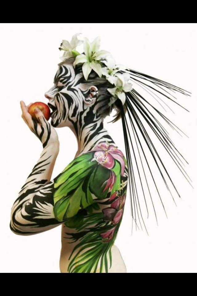 Zebra BODYART www.facial-attraction.co.uk